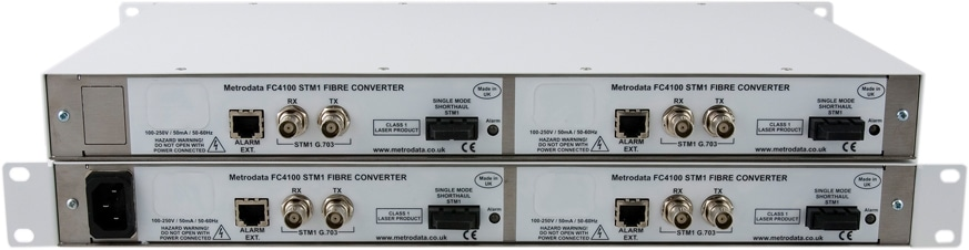 Pair of Quad-FC4100 units stacked to show front and back