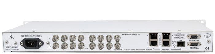 MetroCONNECT WCM1800: Ethernet Converter over 8x bonded E1 / T1