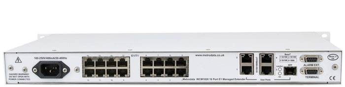 MetroCONNECT WCM1820: Ethernet Converter to 16x bonded E1 / T1