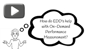 How do EDD's help with On-Demand Performance Measurement?