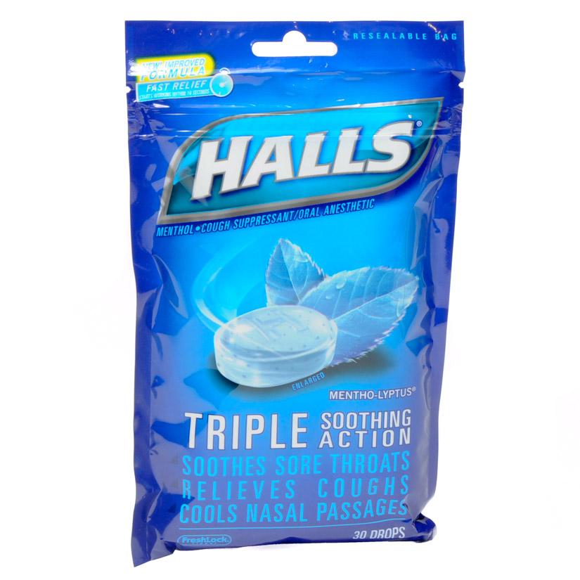 Halls Cough Drops 30/bag | eBay