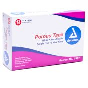 Adhesive Tape Porous 1 Inch White 12/box Latex Free