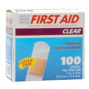 White Cross Clear Plastic Bandage Strips 1'' X 3'' 100/box