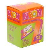 Kids Assorted Neon Color Adhesive Bandages 3/4'' 100/box