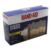 J & J Bandaid  Sheer Plastic Bandages 3/4 X 3 100/box