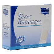 Plastic Adhesive Bandages Strips 1'' X 3'' 100/box