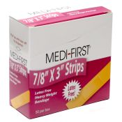 Medifirst Bandage Strips 7/8 x 3 Latex Free (50/Bx)