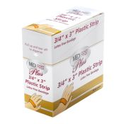 Medifirst Plastic Bandage Strips 3/4'' X 3'' 100/box