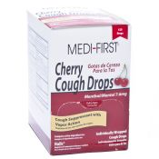 Medifirst Cough Drops Cherry Individually Wrapped