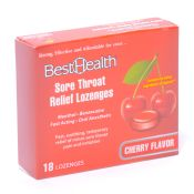 Sore Throat Relief Lozenges Cherry Flavor 18/bx