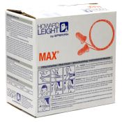 Max Disposable Earplugs With Cord 100 Pair Per Box
