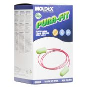 Moldex #6900 Purafit Green Disposable Earplugs With Cord 100 Pair/box