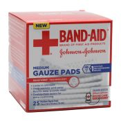 Gauze Pads Band-Aid Brand Sterile (25/Bx)