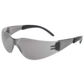 Radians Mirage Rt Safety Glass With Rubber Tipped Temples Smoke Lens