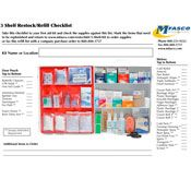 3 Shelf Kit Refill Checklist PDF