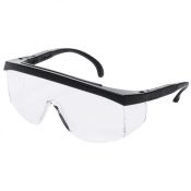 Mfasco G4 Junior Kids Safety Glass Black Frame Clear Lens