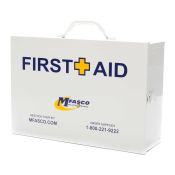 First Aid Box Empty 2 Shelf W/Logo