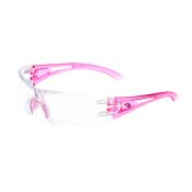 Optima Safety Glass Pink Frame Clear Lens Each