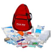 Emergency Response First Aid Kit Sling Bag Red Complete