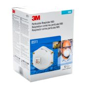 3m #8511 N95 Particulate Respirator With Valve 10/pkg
