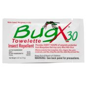 Bug X 30 Insect Repellent Wipes Each