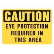 Eye Protection Required In This Area Sign Plastic 10'' X 14''