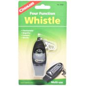 Four Function Whistle With Thermometer, Magnifier & Compass