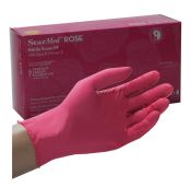 StarMed Rose Pink Nitrile Gloves by Sempermed