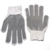 Pvc Double Dot Work Gloves Knit Wrist Dozen