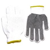 Pvc Dot String Knit Wrist Work Glove Dozen