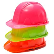 Safety Hard Hat With Ratchet Headgear Adjustment High Visibility