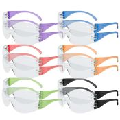 Safety Glasses Intruder Multi Color Clear Lens 12/box