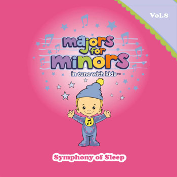 Pink album cover with Majors mascot wearing a sleeping beanie