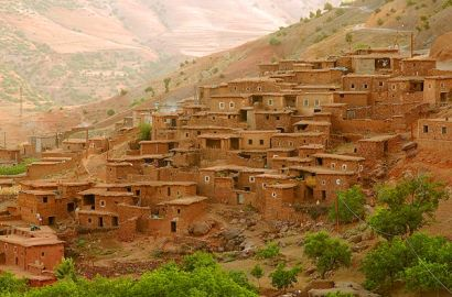 Imlil Village And Atlas Mountains From Marrakech