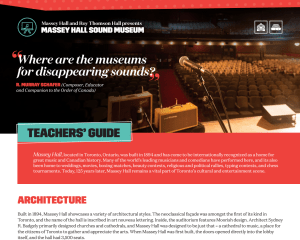 Sound Museum Teachers' Resource Guide
