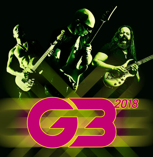 G3 2018 - JOE SATRIANI, JOHN PETRUCCI of Dream Theater, PHIL COLLEN of Def Leppard