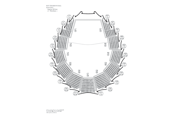 Seating Map Roy Thomson Hall