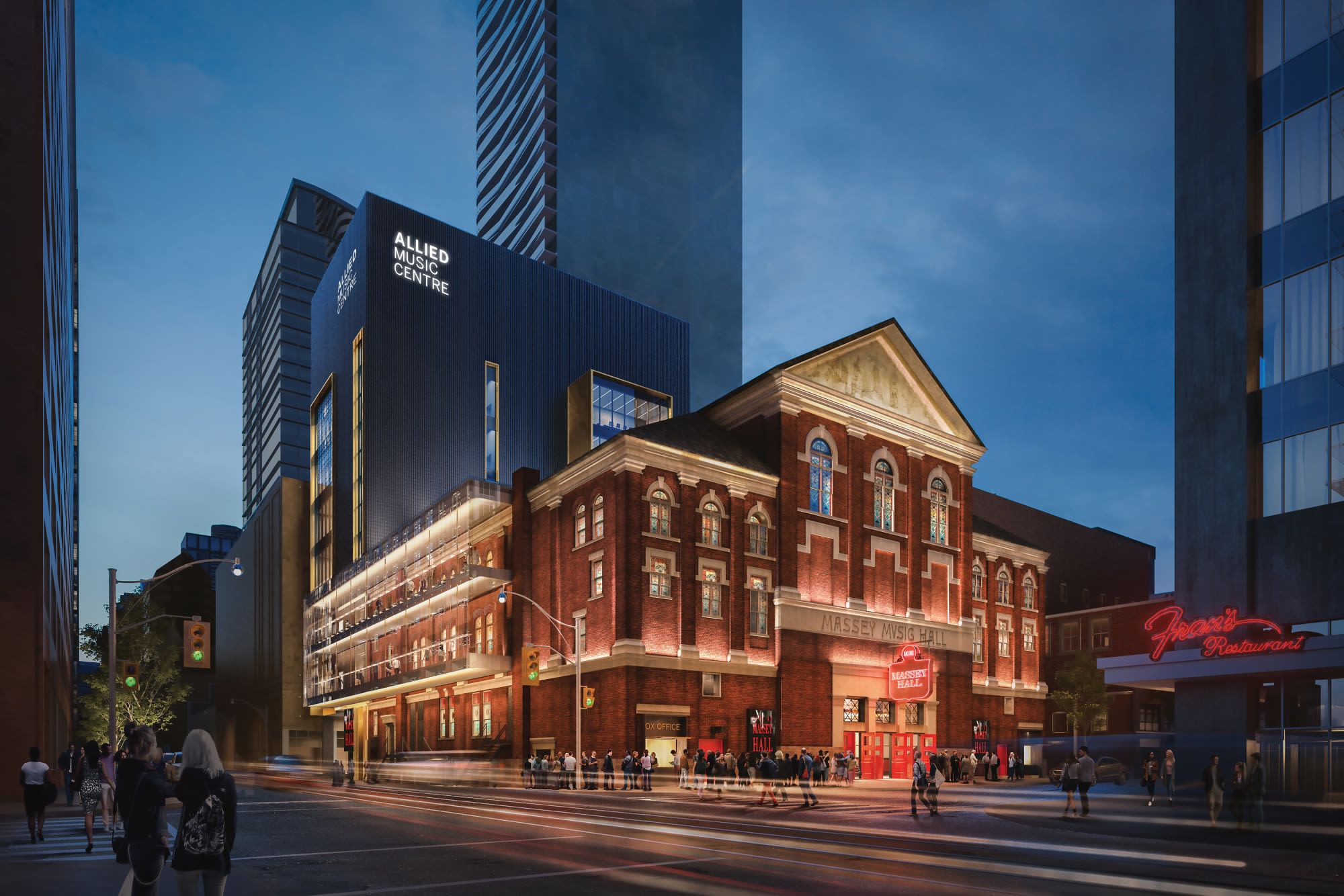 Exterior Rendering of the Allied Music Centre