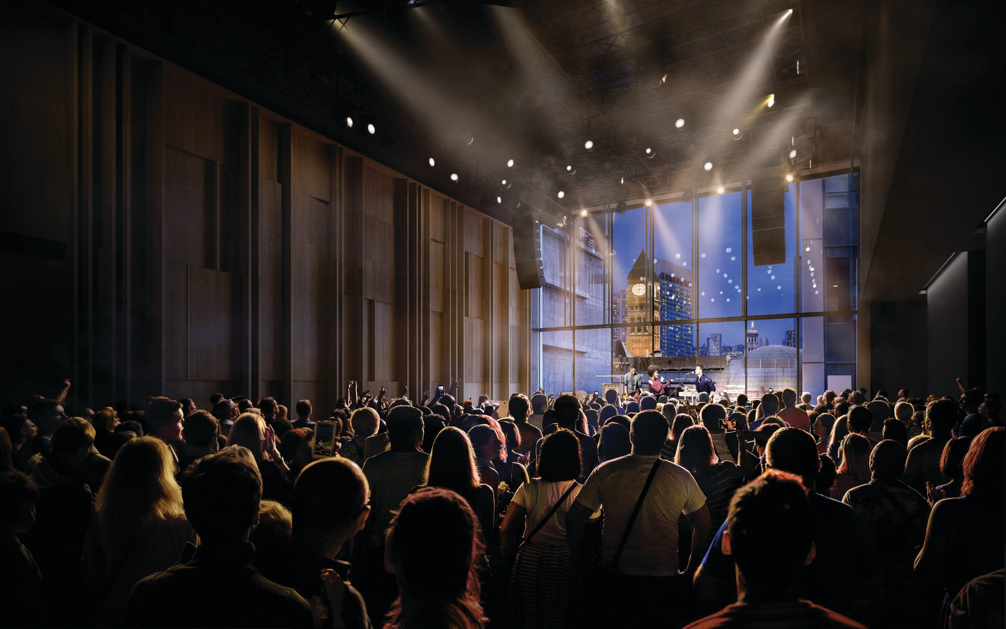 Rendering of the Club at the Allied Music Centre