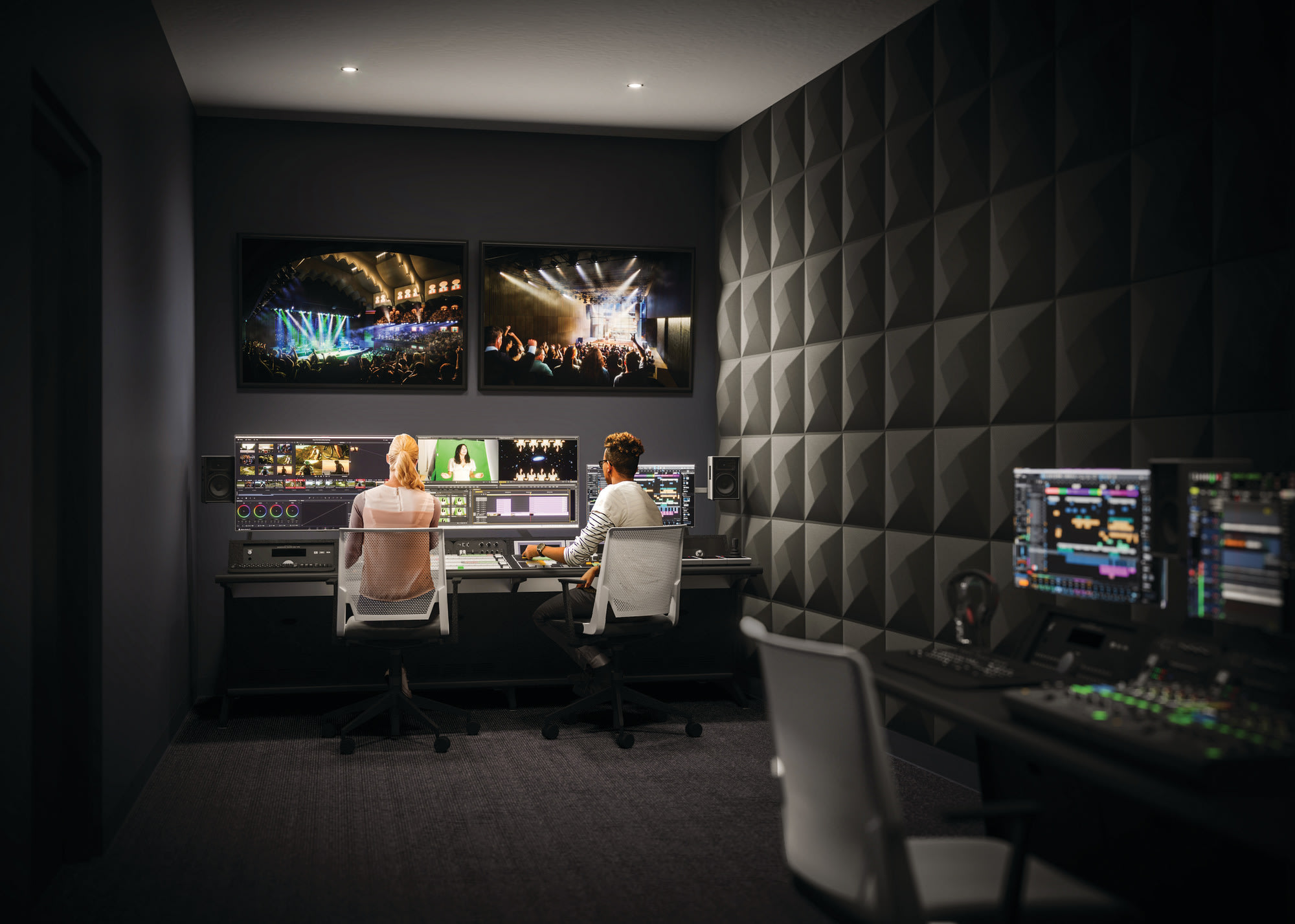 Rendering of the Recording & Broadcast Facilities at the Allied Music Centre