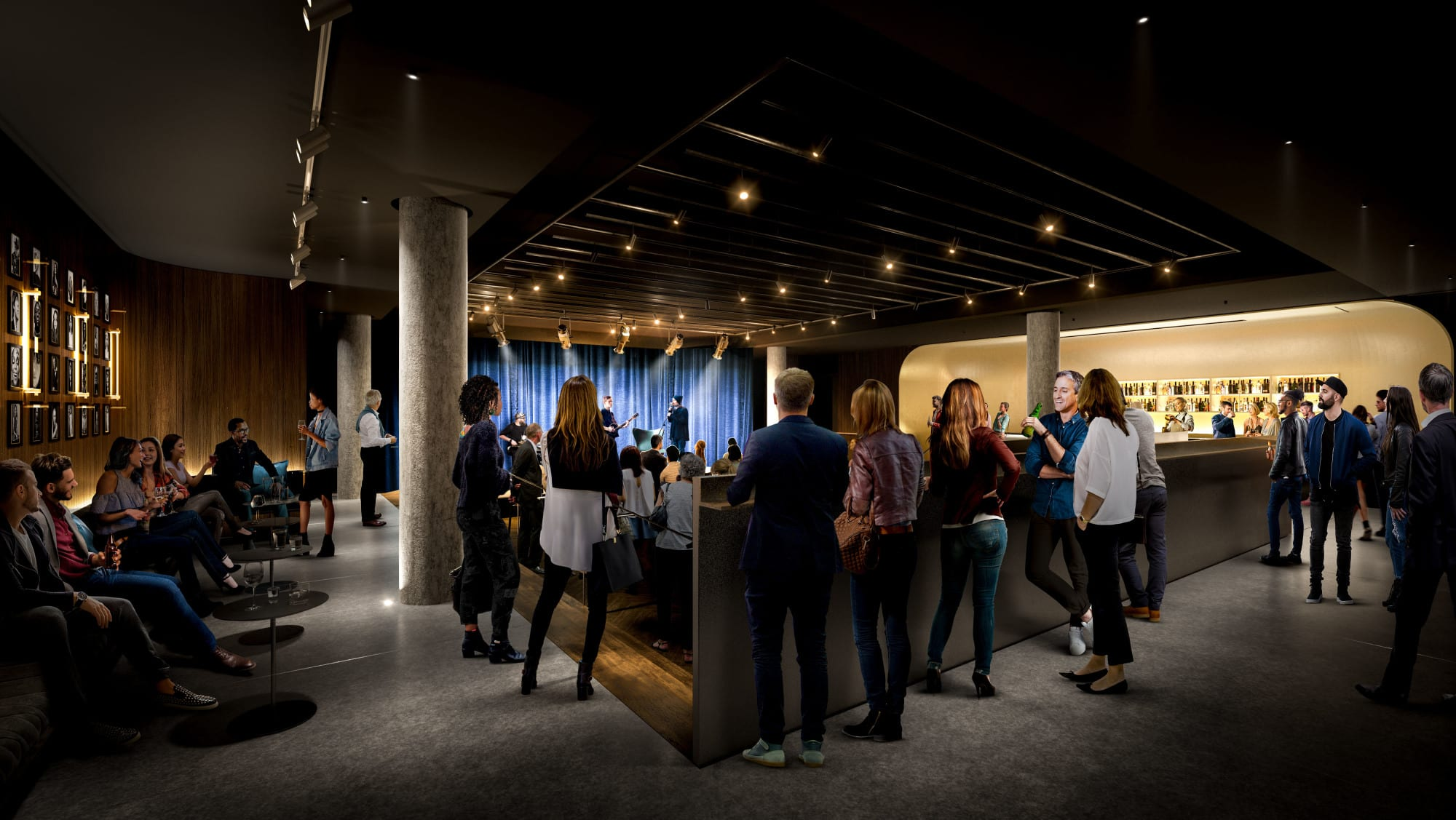 Rendering of the Basement Bar at the Allied Music Centre