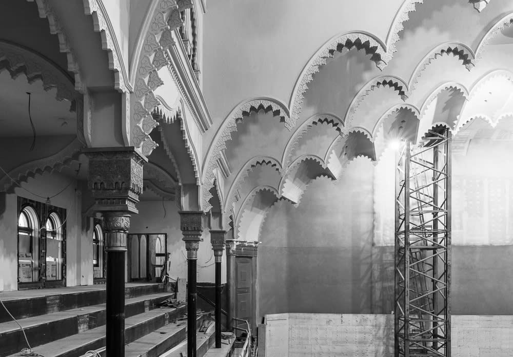 A glimpse of the ceiling arches, fully restored to original 1894 splendour.
