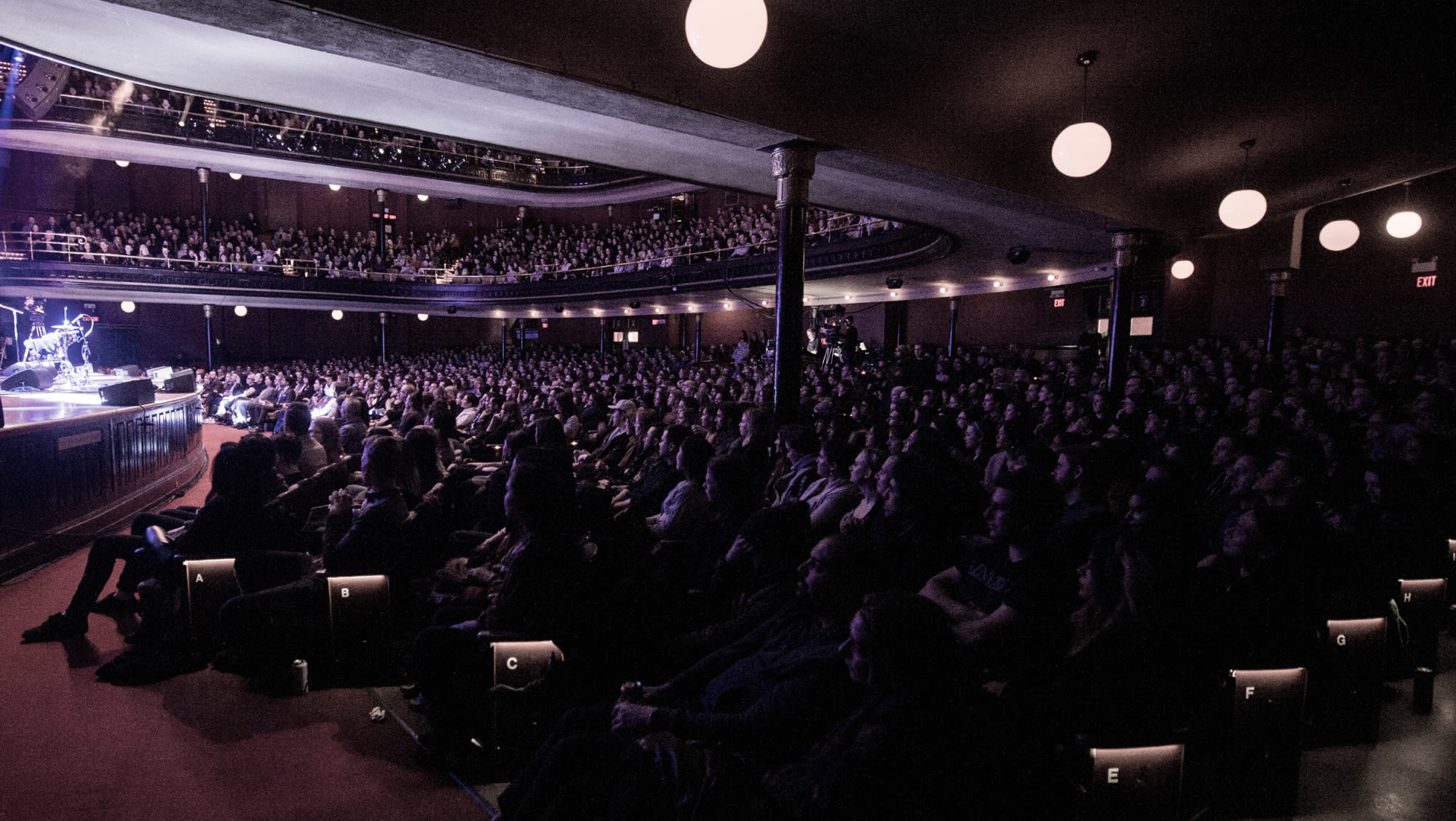A sold out crowd attends a Live at Massey Hall concert