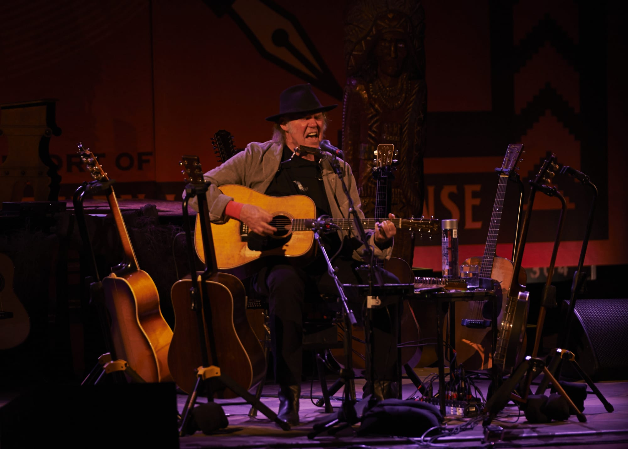 Neil Young Plays for a sold out crowd at Massey Hall