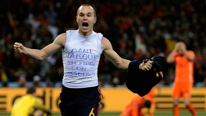 ২০১০ বিশ্বকাপ ফাইনালে শেষ মুহূর্তে গোল দিয়ে স্পেনকে বিশ্বকাপ জেতান আন্দ্রেস ইনিয়েস্তা