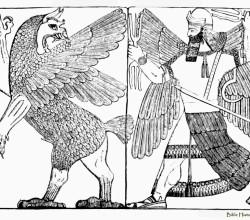 Combat between the monster tiamat