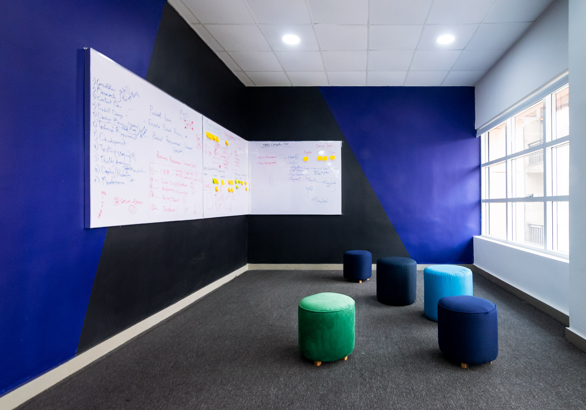 Huddle Space - Enyata Head Office designed by Micdee Designs. Photograph: Ruby's Polaroid