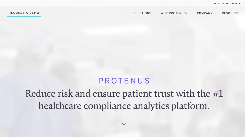 Protenus Homepage