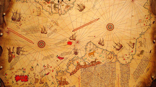 Piri Reis map from 1519 showing Antarctica. Antarctica was discovered in 1818.