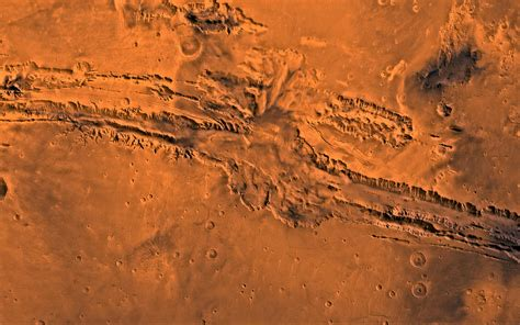 Image of the Mariner Valley, Vallis Marineris of Mars from space.